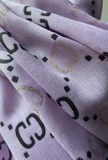 Coton scarf with G logo. Logo in black and gold