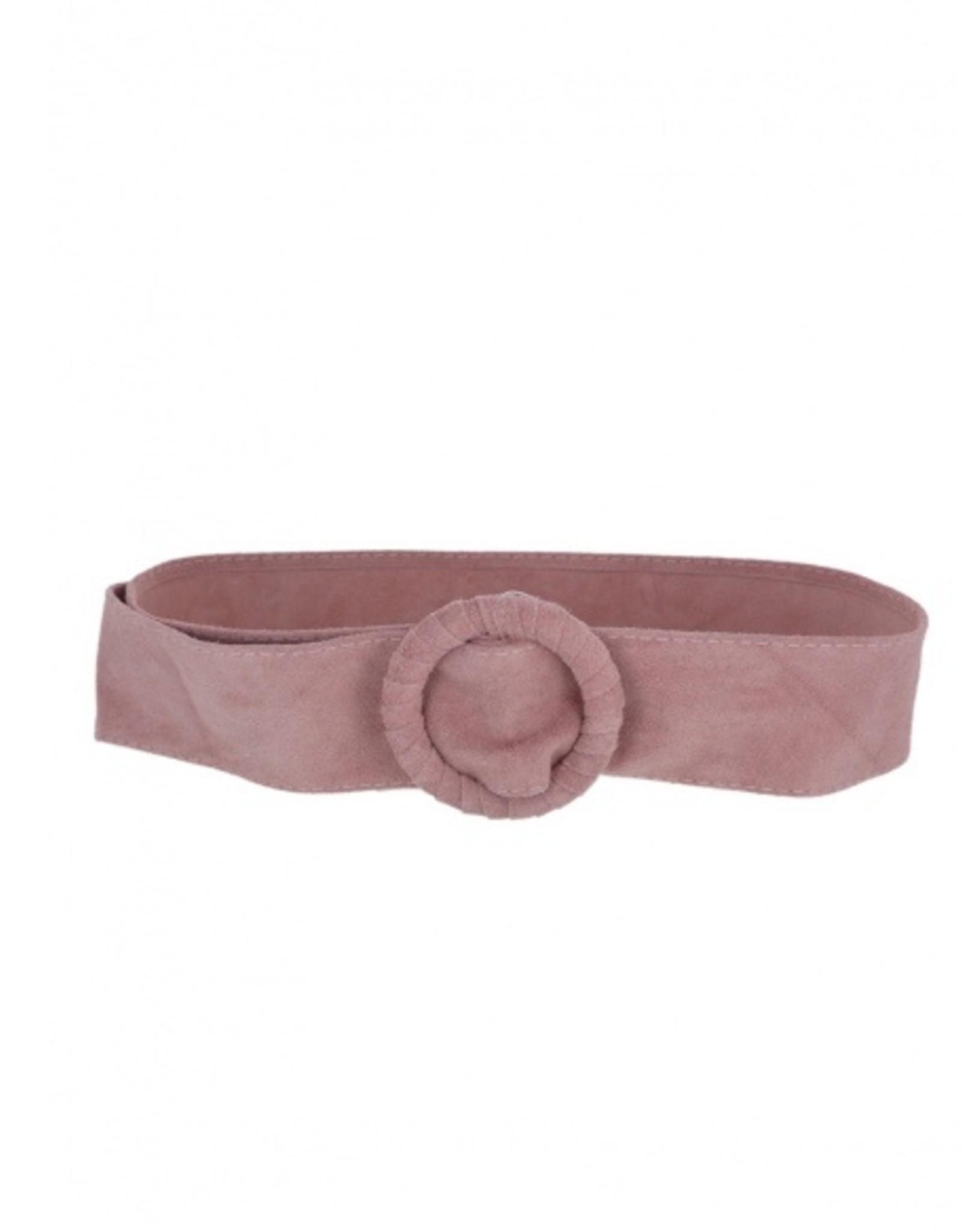 Wide belt in buckskin, one size