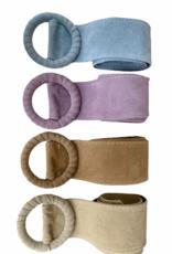 Brede riem in daim, verschillende kleuren, één maat