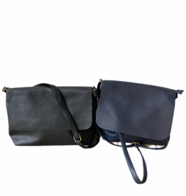 Artificial leather bag with zipper and flap