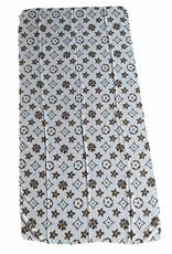 Scarf white cotton with brand logo