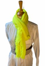 Grof geweven katoenen sjaal in vele kleuren