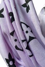 Coton scarf with black logo