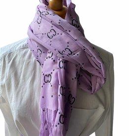 Katoenen paarse sjaal met G logo