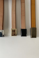 Natural leather wristband