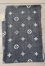 Sjaal in zachte stof met brandlogo