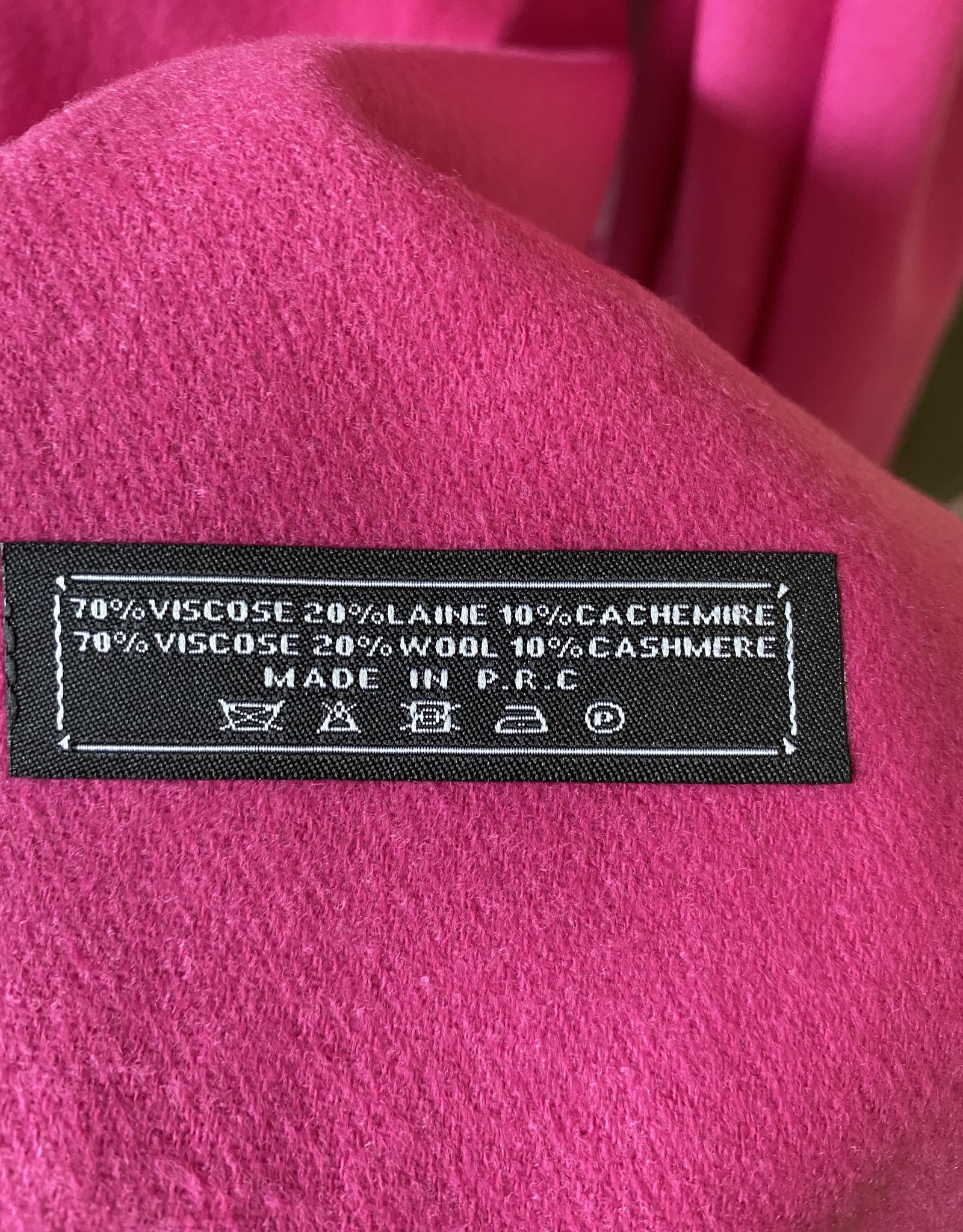 Gekleurde sjaal zacht van stof met cashmère