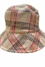 Buckethat checkered in soft fabric