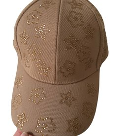 Cap with logo in strass