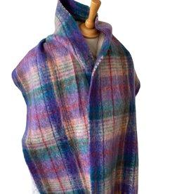 Sjaal multicolor met paarse tinten