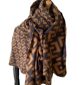 Soft scarf brown colors , F logo