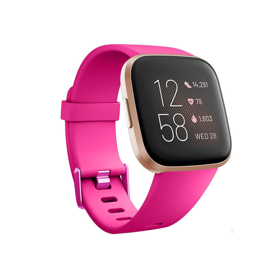 Fitbit Versa silicone band (roze)