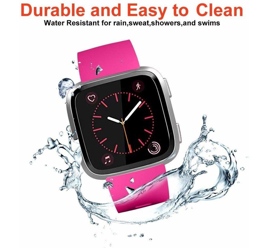 Strap-it® Fitbit Versa silicone band (roze)