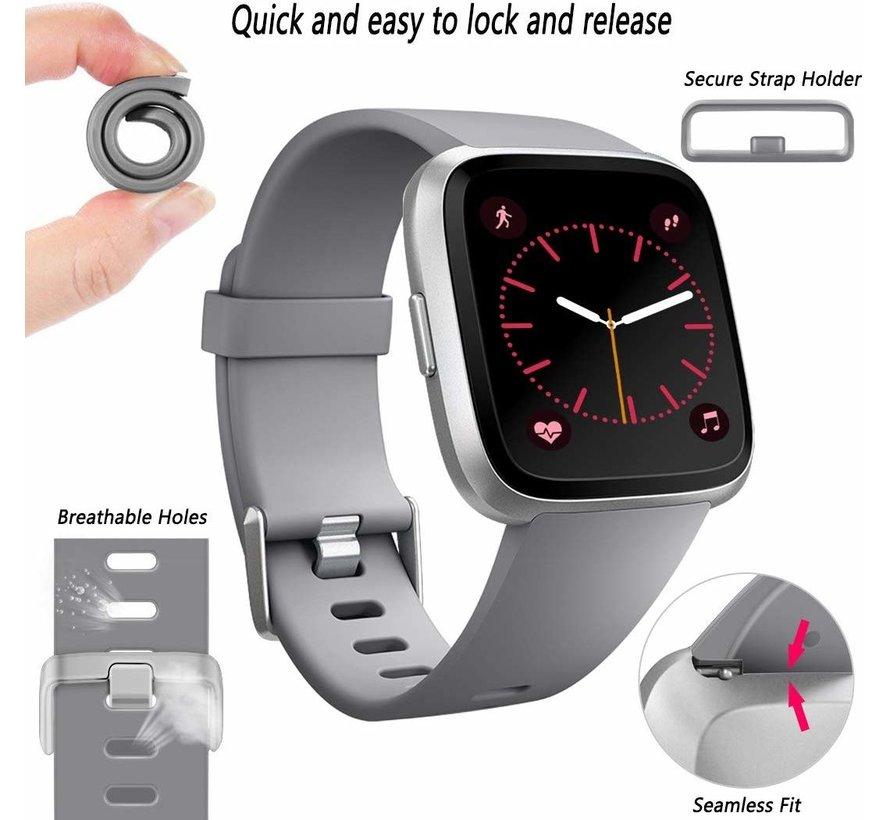 Strap-it® Fitbit Versa silicone band (grijs)