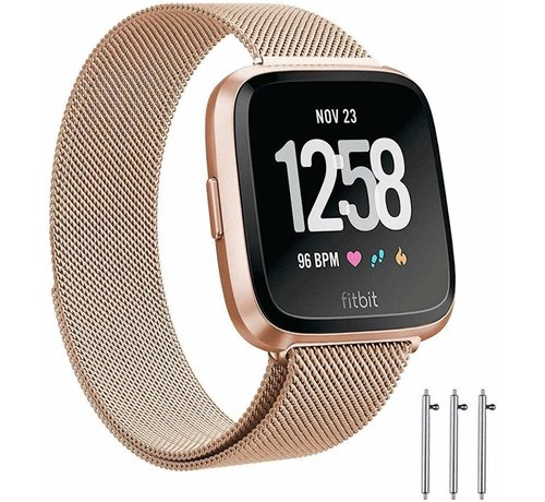 Fitbit Versa Milanese band (rosé goud)