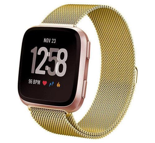 Strap-it® Strap-it® Fitbit Versa Milanese band (goud)