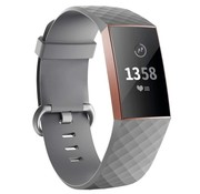 Strap-it® Fitbit Charge 3 silicone band (grijs)