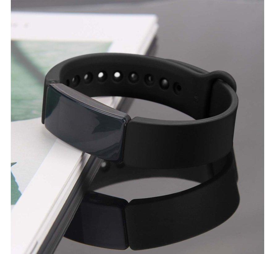 Strap-it® Fitbit Inspire  silicone bandje (zwart)