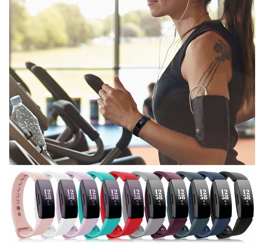 Strap-it® Fitbit Inspire  silicone band (wit)