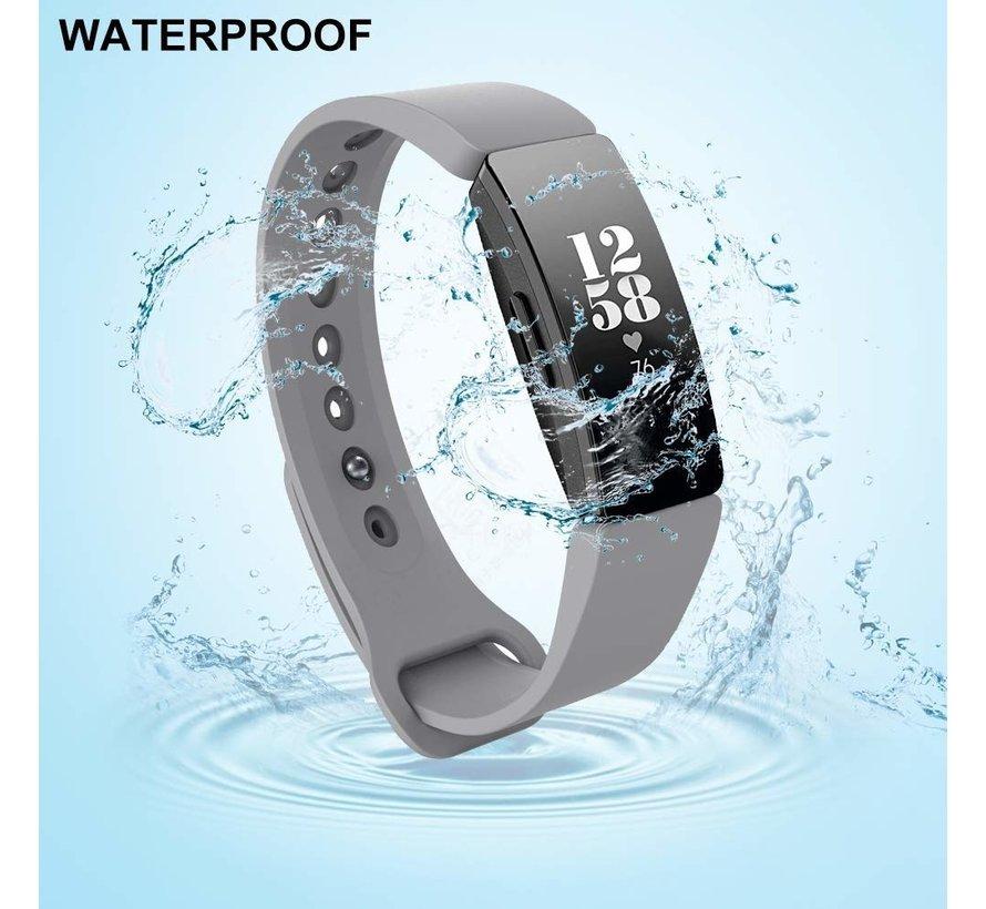 Strap-it® Fitbit Inspire  silicone band (grijs)