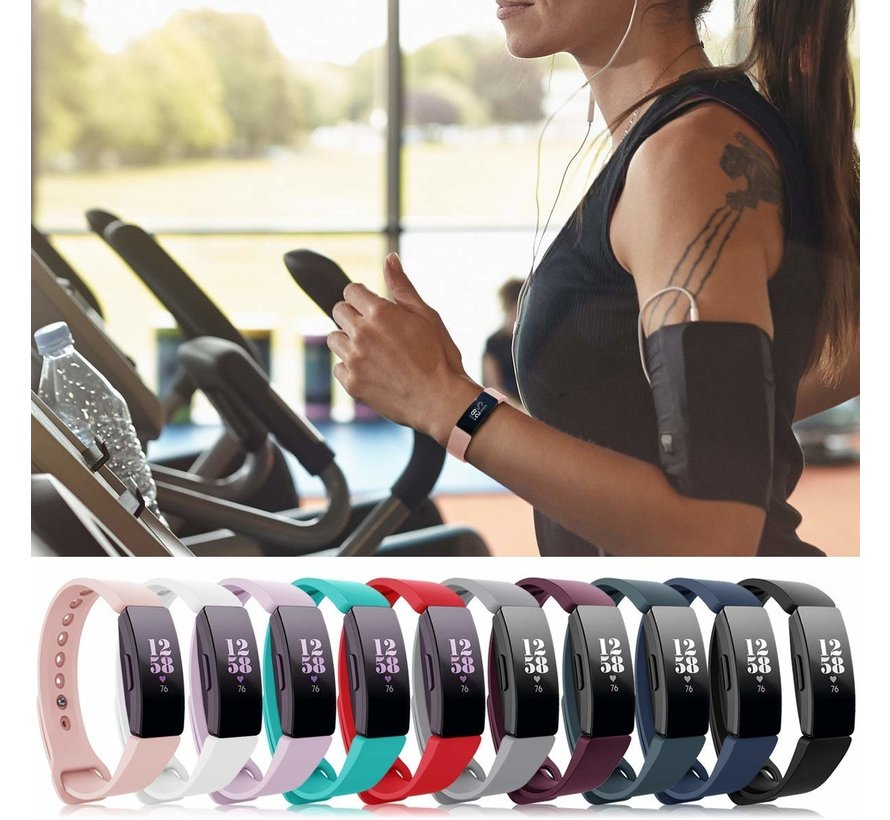 Strap-it® Fitbit Inspire  silicone band (roze)