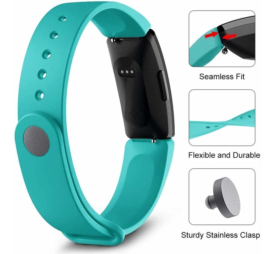 Strap-it® Fitbit Inspire  silicone band (turquoise)
