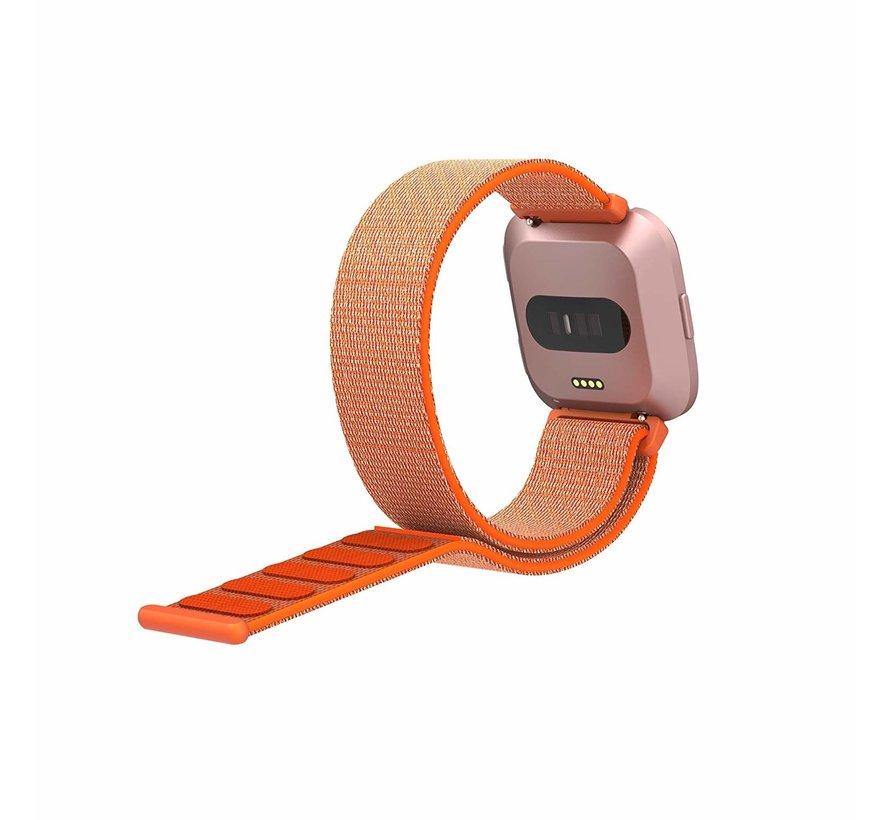 Fitbit Versa nylon bandje (oranje)