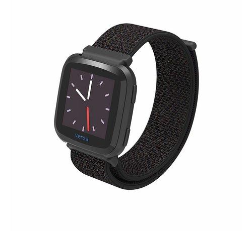 Fitbit Versa nylon bandje (zwart)