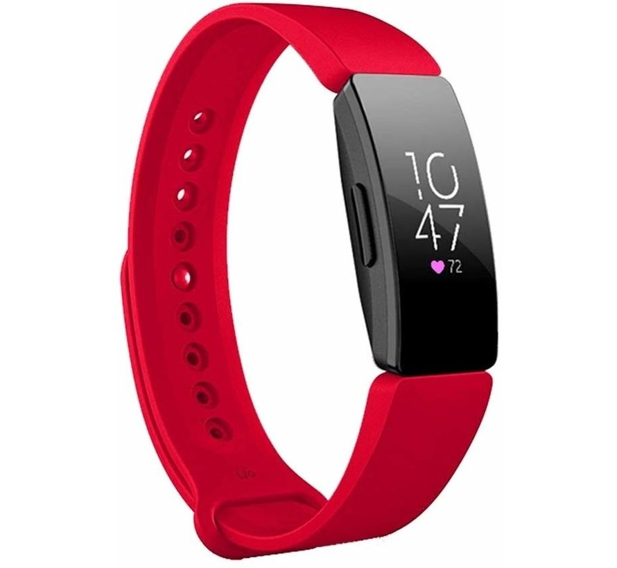 Strap-it® Fitbit Inspire  silicone band (rood)