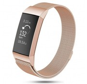 Strap-it® Fitbit Charge 3 Milanese band (rosé goud)