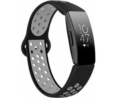 Strap-it® Strap-it® Fitbit Inspire sport band (zwart/grijs)