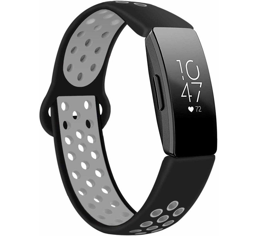 Strap-it® Fitbit Inspire sport band (zwart/grijs)