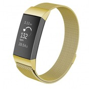 Strap-it® Fitbit Charge 3 Milanese bandje (goud)