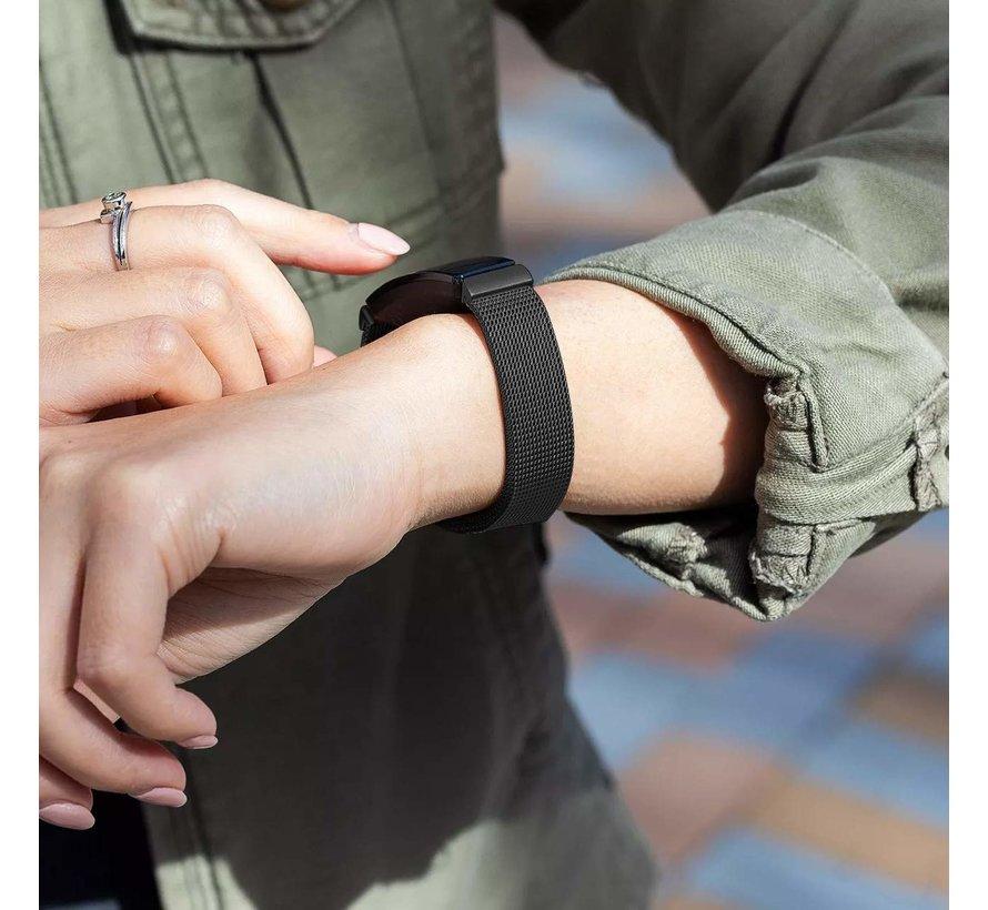 Strap-it® Fitbit Inspire  Milanese band (zwart)