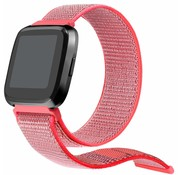 Strap-it® Fitbit Versa nylon bandje (knalroze)
