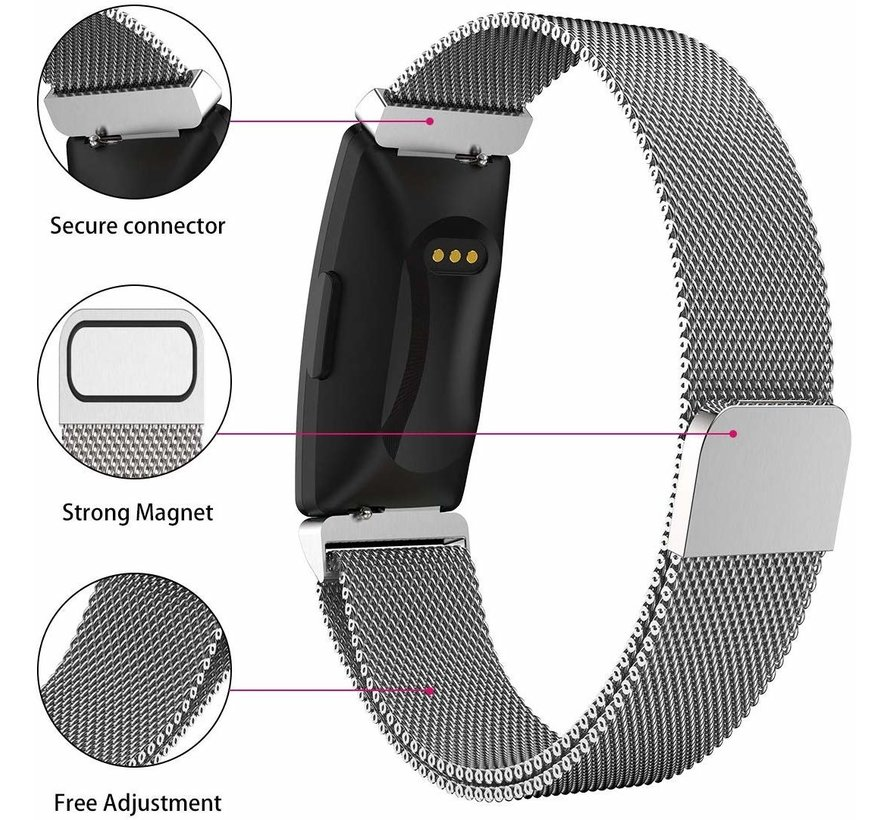 Strap-it® Fitbit Inspire  Milanese band (zilver)