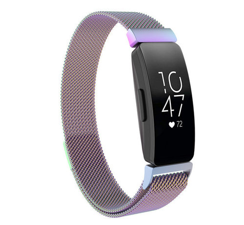 Strap-it® Strap-it® Fitbit Inspire Milanese band (rainbow)