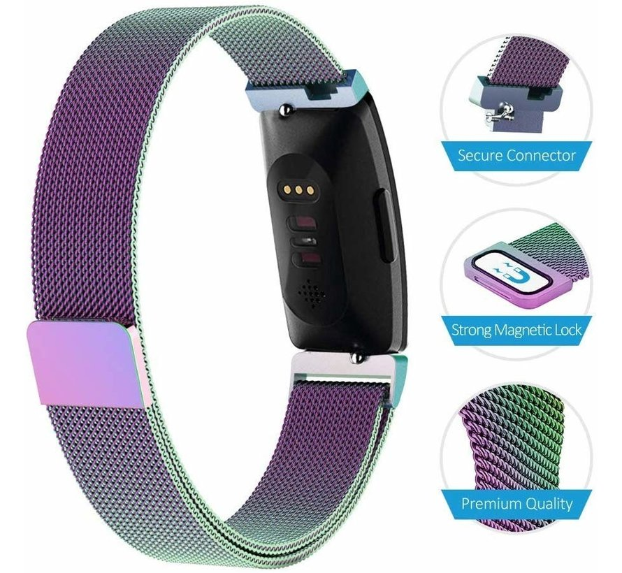 Strap-it® Fitbit Inspire Milanese band (rainbow)