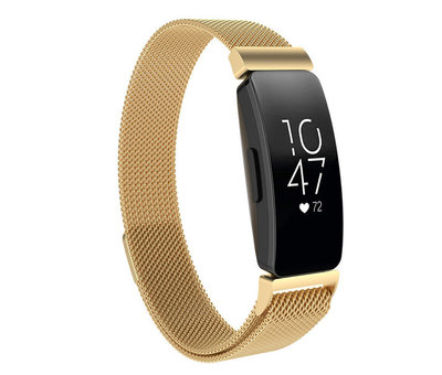 Strap-it® Strap-it® Fitbit Inspire Milanese band (goud)