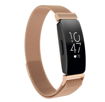 Strap-it® Fitbit Inspire Milanese band (rosé goud)