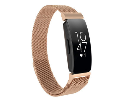 Strap-it® Strap-it® Fitbit Inspire Milanese band (rosé goud)