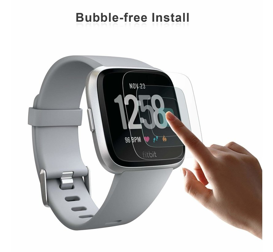 Strap-it® Fitbit Versa screen protector (glas)