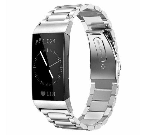 Strap-it® Strap-it® Fitbit Charge 3 stalen bandje (zilver)