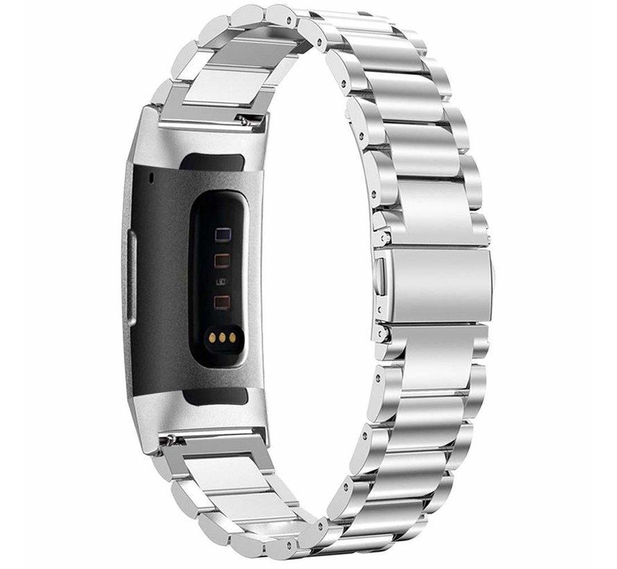 Fitbit Charge 3 stalen bandje (zilver)