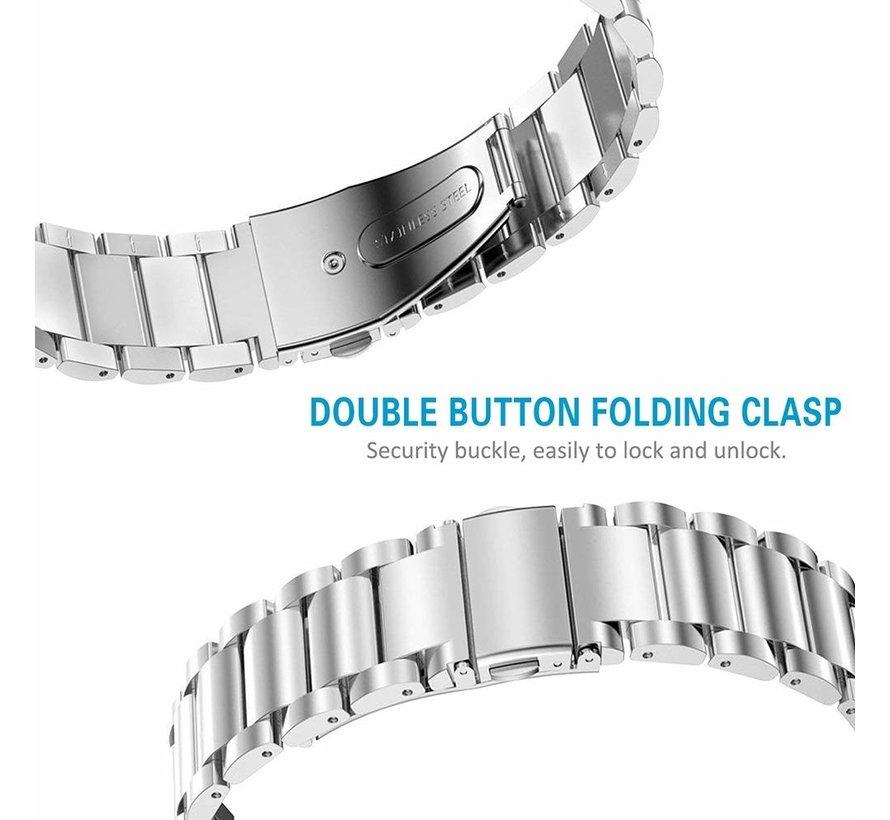 Strap-it® Fitbit Charge 3 stalen bandje (zilver)