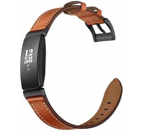 Strap-it® Strap-it® Fitbit Inspire leren bandje (bruin)