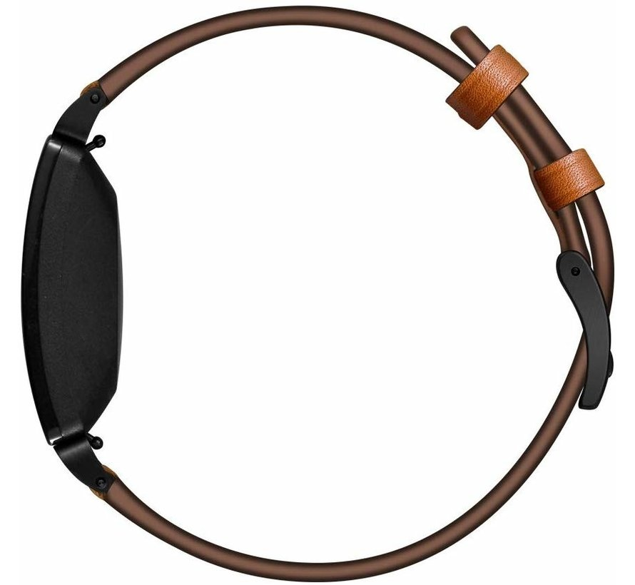 Strap-it® Fitbit Inspire leren bandje (bruin)
