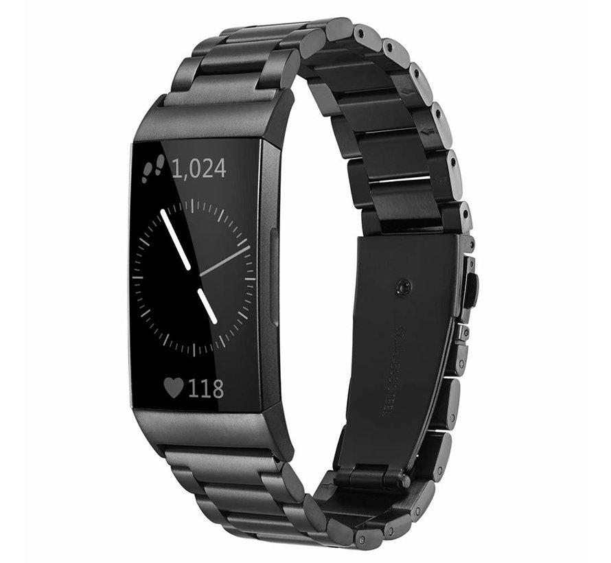 Fitbit Charge 3 stalen bandje (zwart)