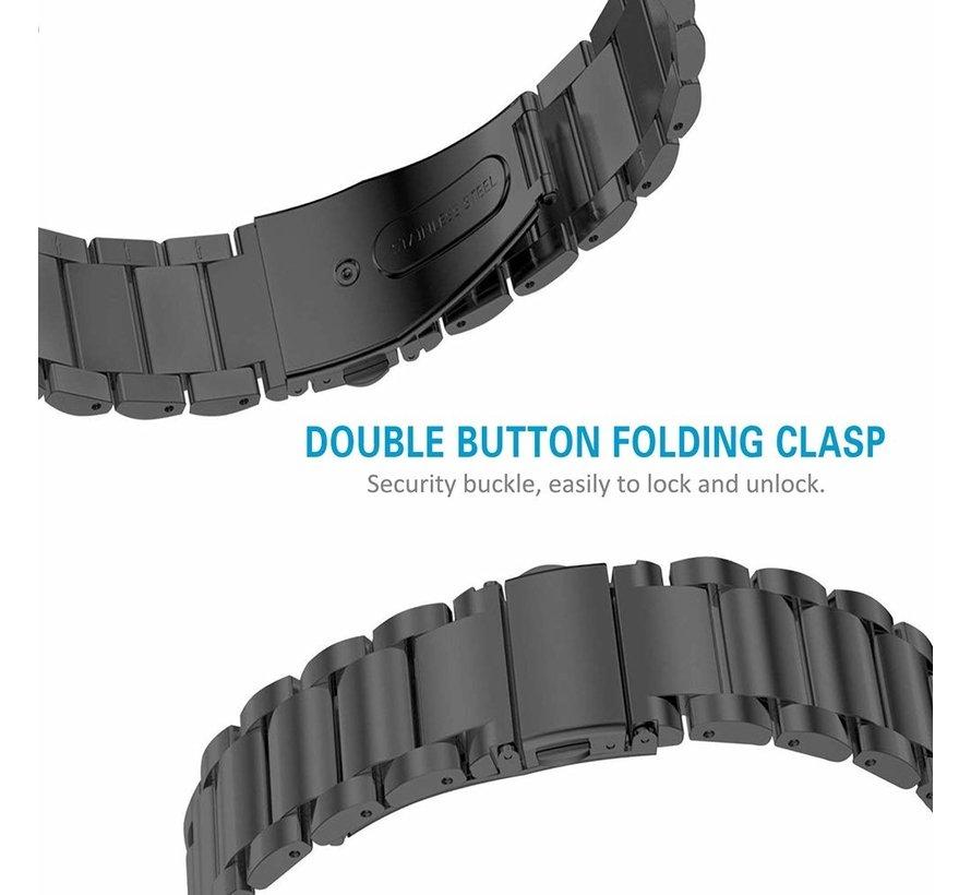 Strap-it® Fitbit Charge 3 stalen bandje (zwart)