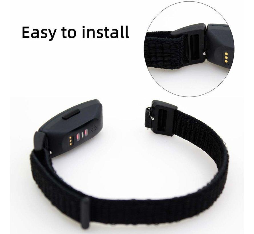 Fitbit Inspire nylon bandje (zwart)